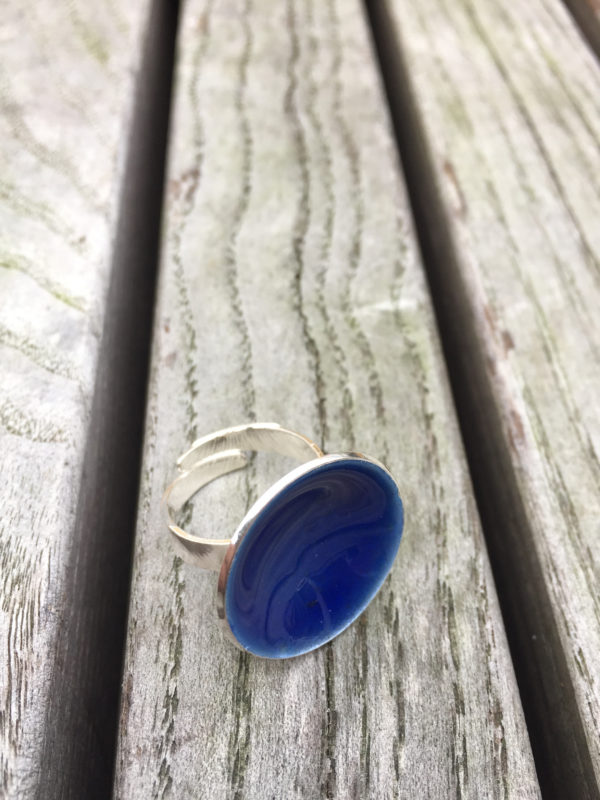 Embla boble ring ola blå- 1495a