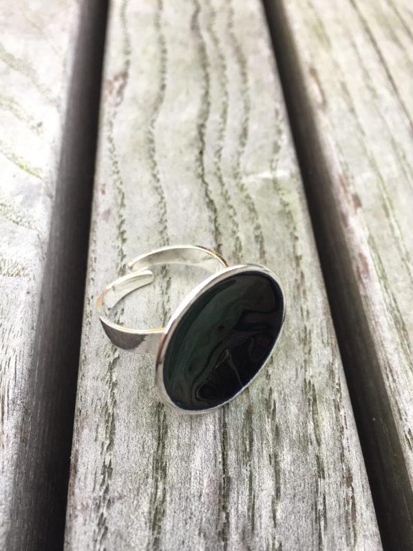 Embla boble ring sort- 1495a