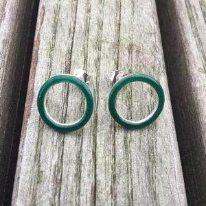 Embla bøye ørepynt mørk grønn- 1603