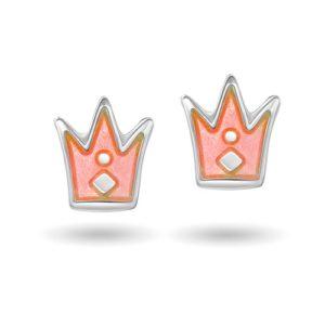 Rosa prinsessekrone ørestikk 4200601