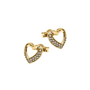 Carmen gull hjerte ørepynt 47171