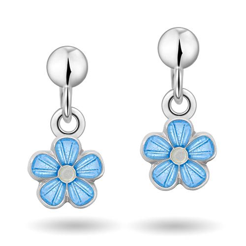 Blå blomster øreheng 90000602