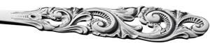 Telesølv, stor spisegaffel 20 cm