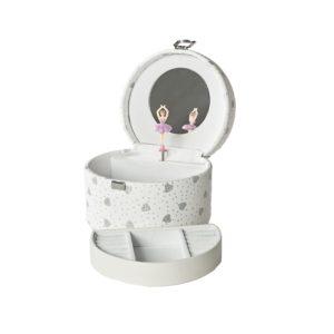 Smykkeskrin hvitt m/hjerter- 3463548