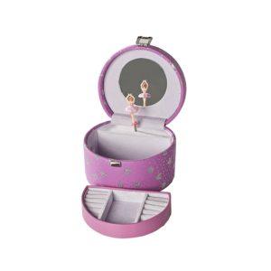 Smykkeskrin rosa m/hjerter- 3463549