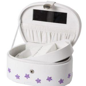 Smykkeskrin hvitt m/blomster- 3463426