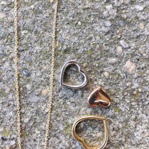 Ditt gull design hjerte 96322