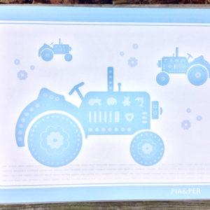 Spisebrikke blå traktor 8900