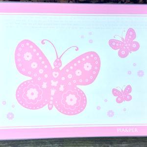 Spisebrikke rosa sommerfugl 8901