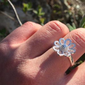 Ring 8 blads rose 9601