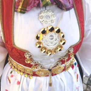 Stor Slangesølje m/løv 1073