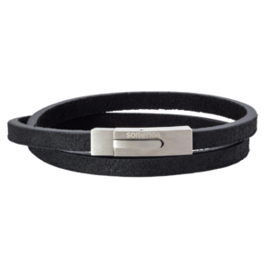 SON BRACELET BLACK CALF LEATHER 897 006