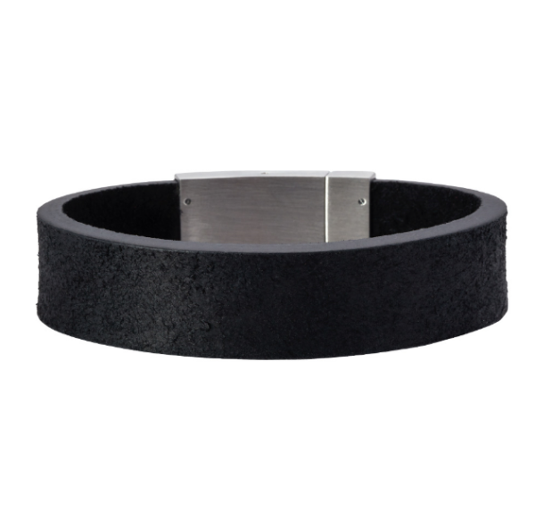 SON BRACELET BLACK CALF LEATHER  897 001
