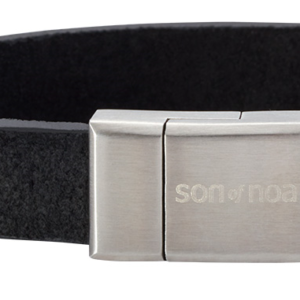 SON BRACELET BLACK CALF LEATHER 897 004