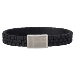 SON BRACELET BLACK CALF LEATHER 897 000